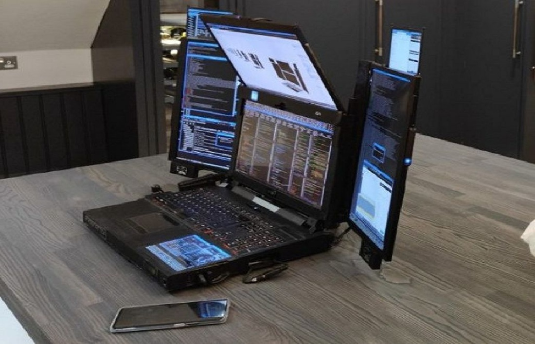 The company introduced a 7-screen laptop